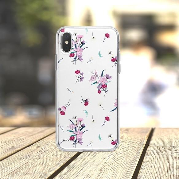 b14d684d26 大人可愛いユリとコスモス 1811-190 Apple iPhone android スマホケース ほぼ全機種対応