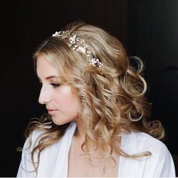 30a27bcbc2a54 ヘッドドレス ウェディング 髪飾り ゴールド リーフ リボン ヘアバンド ヘアアクセサリー レディース 髪留め 花嫁