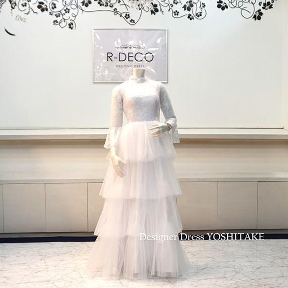 caeaaf65561db ウエディングドレス(パニエなし) スレンダー白ドレス ブライダル二次会 披露宴 ドレス r-deco