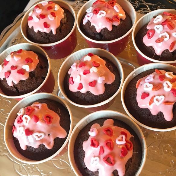 バレンタイン カップ ケーキ