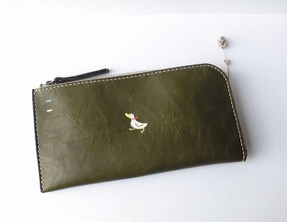 sale retailer 71d35 1c0ae 手縫い【シンプルなアヒルのお財布】LGR