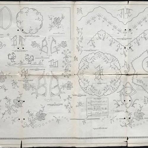 フランス 刺繍新聞1958年4月. 編み図・パターン アンティーク ...