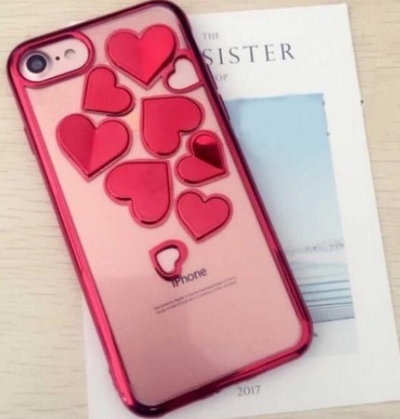 立体 ハート メタリック iPhone スマホケース 4色 カラー iPhone ...
