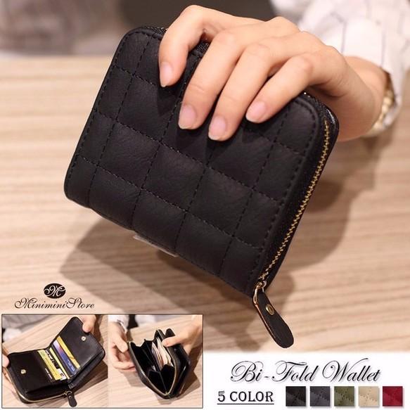 3fffa0162165 小さい財布 レディース 二つ折り コンパクト ミニ財布 ラウンドファスナー 5色 財布・二つ折り財布 miniministore