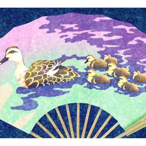 カルガモ親子 Duck Family イラスト Kura Katsu 通販 Creema クリーマ ハンドメイド 手作り クラフト作品の販売サイト