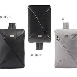 eb914a770b39 メンズ ボディバッグ おしゃれ ブラック 灰色 ショルダーバッグ Emiko 通販 Creema(クリーマ)  ハンドメイド・手作り・クラフト作品の販売サイト