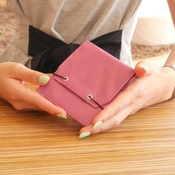 newest collection 599f7 60f84 『えっ 薄さ3mm!?』極薄財布【薄い軽い】旅行用<ワインレッド>レディース・メンズOK