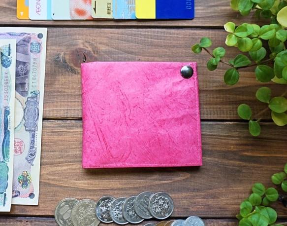 7f748d6b072b 極薄二つ折り財布【薄い軽い】 <チェリーピンク>レディース【薄い軽い】旅行・スポーツ 財布・二つ折り財布 RichLive