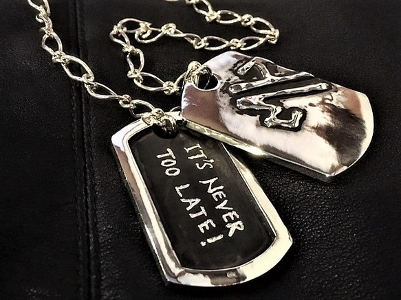 Silver925 dog tag pendant 925 silver925 dog tag pendant 925 mozeypictures Image collections