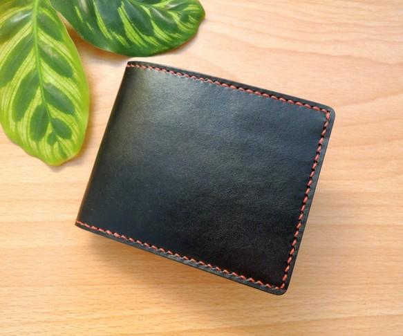 c906e5c5887a 陰のデザインハンドメイドレザーグッズ - メンズクラシックレザールーズリーフ大容量2倍の短い財布 - 黒 財布・二つ折り財布 annayin