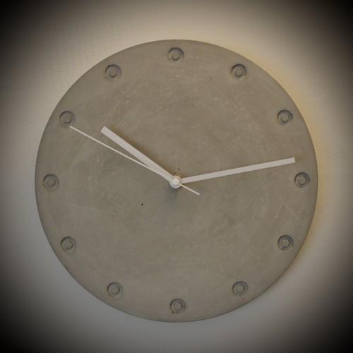 モルタル時計B【受注生産】