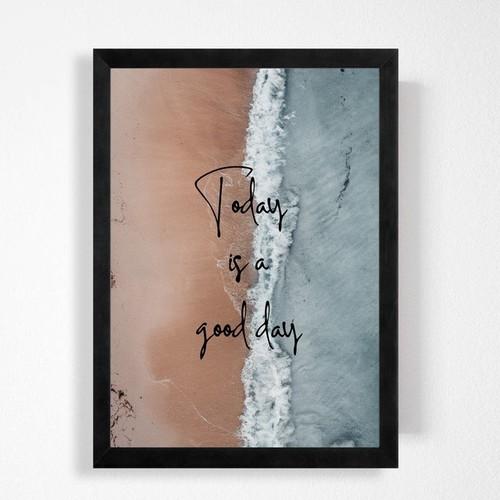 2点で送料無料◆シンプルで可愛い英文ハンドメイドポスター◆モノトーン、北欧インテリア好きな方に◆