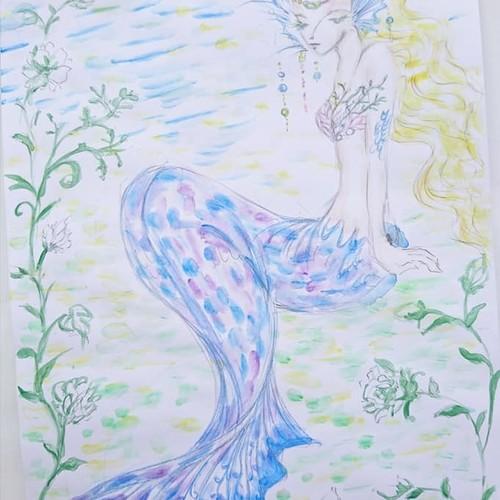 イラスト原画 人魚姫 20 イラスト Miho 通販 Creema クリーマ ハンドメイド 手作り クラフト作品の販売サイト