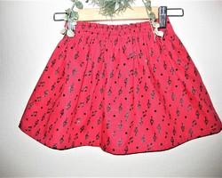 3d8b5c10103b7 赤X黒のラメ入り音符のギャザースカート(100cm)