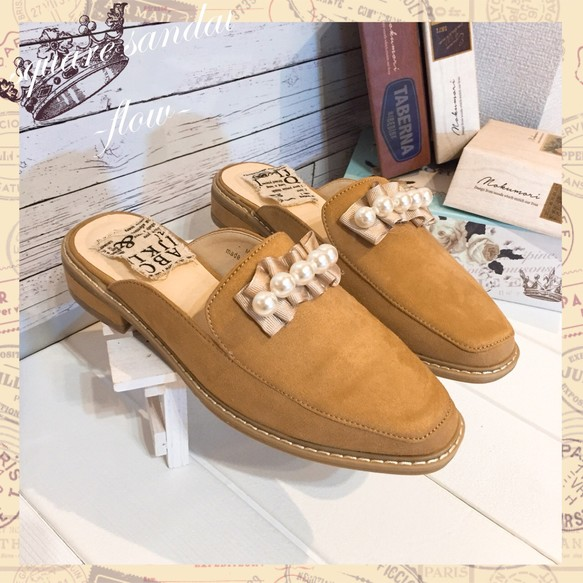 67db30327983 NEW【S〜LL】パールフリルスクエアサンダル シューズ・靴 -flow- 通販 ...