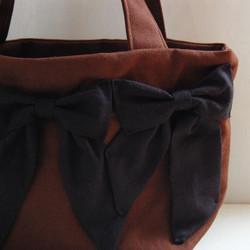 dd6f943b6160 スピカスモールバッグ(茶×黒) トートバッグ etain 通販|Creema(クリーマ) ハンドメイド・手作り・クラフト作品の販売サイト