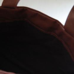 b5b7721a7da9 スピカスモールバッグ(茶×黒) トートバッグ etain 通販|Creema(クリーマ ...