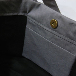 8b04b43b8b3e aigis リボントートバック(灰×黒) トートバッグ etain 通販|Creema ...