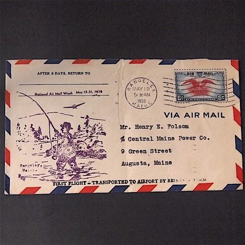 ☆1938年に米国で送られたエアメール封筒☆A8 その他素材 Olive 通販 ...