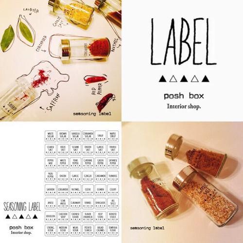 【SALE☆送料無料】調味料ラベル:typeB、ラベル、ラベルシール、ラベルステッカー、手書き風