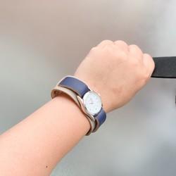 low priced 22671 b3e4f ▲WPILES 灰×紺はクールでかっこいい男前「Wパイルズ 腕時計」金属アレルギー◎(WPW-HNC-NⅡ)