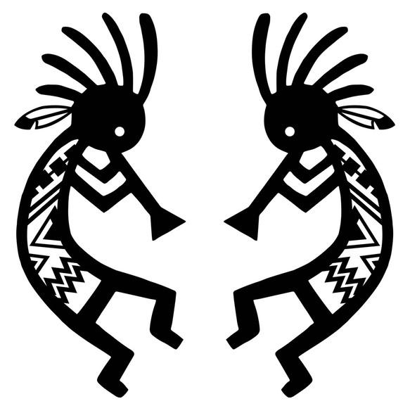 小 カッティングシート ココペリ インディアン ネイティブアメリカン