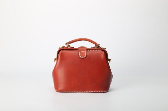 394e3fb1649d 【切線派】がま口 本革手作りのレザーショルダーバッグ 総手縫い 手持ち 肩掛け 2WAY 鞄