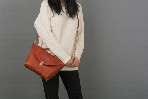 0019d4efc270 【切線派】大容量 本革手作りのレザーショルダーバッグ 総手縫い 手持ち 肩掛け 2WAY 鞄