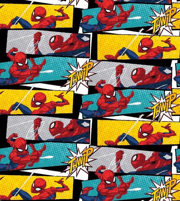 Usa輸入キャラクター生地marvel スパイダーマンアメコミ風生地