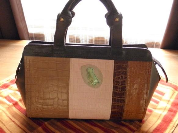 c9e40214002e 本革製 カラフルなボストンバッグ(GreenOwl) ボストンバッグ CPR 通販 ...