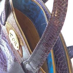 23e43b23ae67 本パイソン革とヌバックのバッグ ハンドバッグ CPR 通販|Creema ...