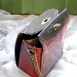 b99fce6ffad4 本パイソン革のミニサッチェルバッグ ハンドバッグ CPR 通販|Creema(クリーマ) ハンドメイド・手作り・クラフト作品の販売サイト