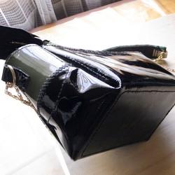 d34815b6c8bf エナメルとパイソン革のミニバッグ ハンドバッグ CPR 通販|Creema(クリーマ) ハンドメイド・手作り・クラフト作品の販売サイト