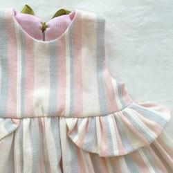 caded8619a8fc インド綿のパステルボーダーワンピース(90cm) 子供服 mille baby kids ...