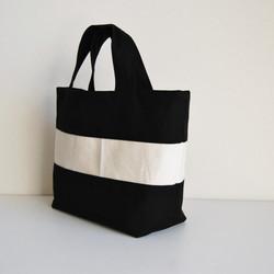 f5375675471f 黒)帆布のシンプルなリバーシブルミニトートバッグ トートバッグ tea ...