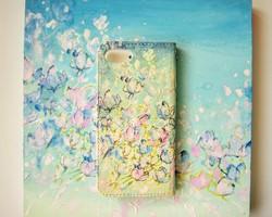 8194d461c8 iPhone6s/6/5 Xperia Z5 X/GalaxyS6 S6EDGE 手帳型 ケースTZ12A7. ¥1,980 / Diamond.  受注制作/木蓮の花 ―Magnolia― 手帳型スマホケース