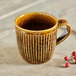飴釉マグカップ(鎬)