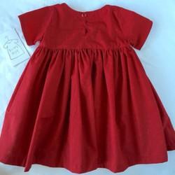 f319f012b351e 再販10オーダーメイド 濃赤フレアーワンピース 半袖size80〜130 ベビー服 ちいさなおうち 通販|Creema(クリーマ)  ハンドメイド・手作り・クラフト作品の販売サイト