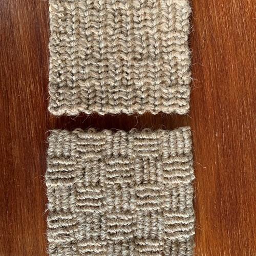 も 編み物 麻ひ