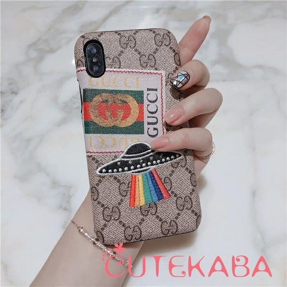 best sneakers 81216 c9068 グッチiphone Xrハードケース ヴィンテージロゴ GUCCIアップリケ ...