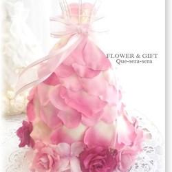 8858d640dfb4e NO70 アーティフィシャルフラワー ギフト ミニドレス(ピンク) ウェディングドレス 結婚祝い 受付 誕生日 送料無料