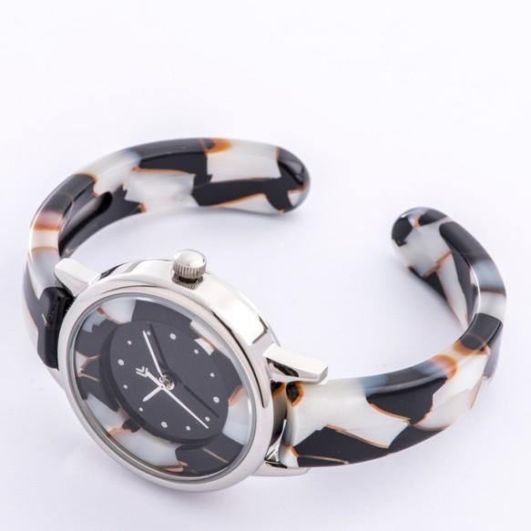 4421857735 腕時計 鯖江バングルウォッチ スモールフェイス ホワイトモザイク 腕時計 ...