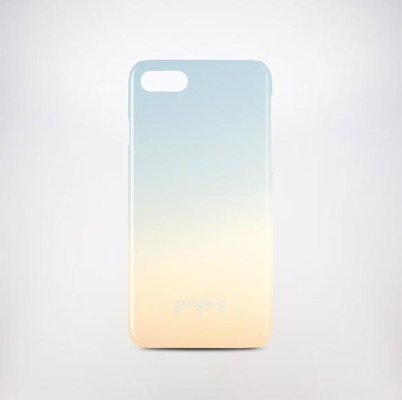 190c47001c 【送料・名入れ無料】 ピンクグラデーションスカイ スマホハードケース iPhone Android対応 名入れ対応 山