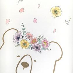 ポスター原画 クマと花かんむり④ イラスト Kiko 通販creemaクリーマ