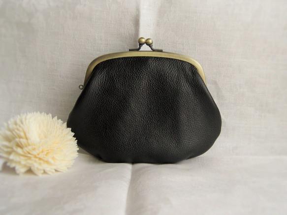 2e768cca4a9e レザーの親子がま口 財布 (黒) 口金包 Keropo 的作品 Creemaー來自 ...