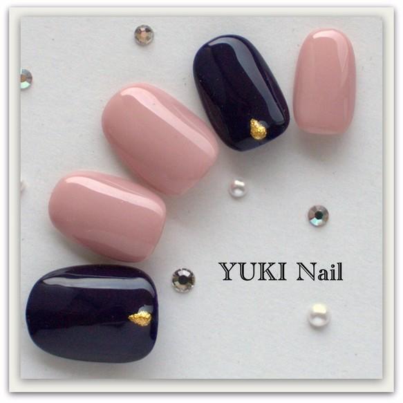 2色の大人シンプル/スワロフスキー/付け爪/ネイルチップ/ネイル/上品/華やか/シンプル/綺麗/ジェル