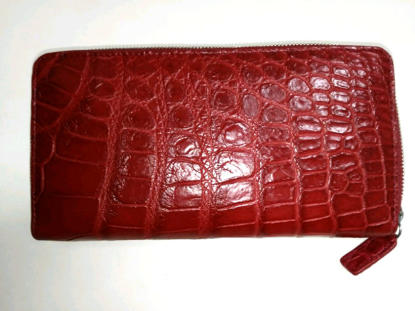 5fc9dfa2776e 高品質 クロコダイル 赤 ラウンドファスナー 長財布 長財布 タロ 通販 ...