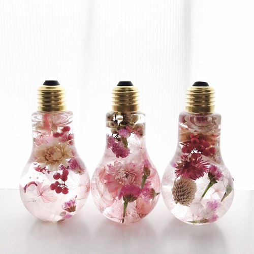 ノンストップで紹介して頂きました!ハーバリウム 彩華~bulb~【春色pink】ギフト 誕生日