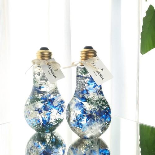 ハーバリウム 彩華~bulb~【Silver christmas】ギフト クリスマス