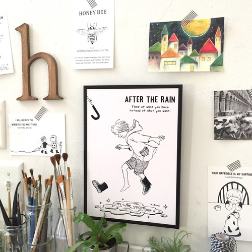 After The Rain イラスト ポスター Size イラスト Hakotoki Design 通販 Creema クリーマ ハンドメイド 手作り クラフト作品の販売サイト